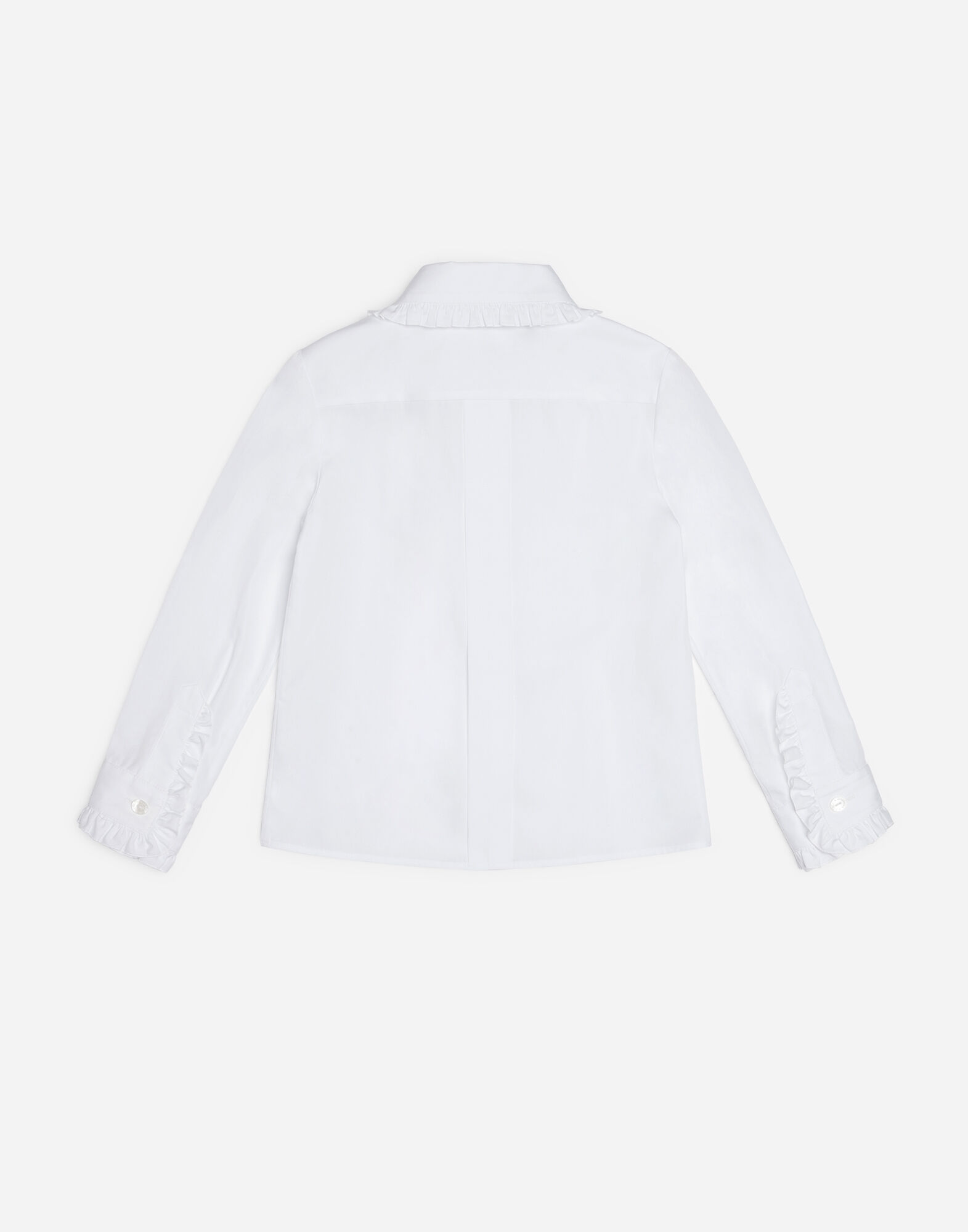 COTTON SHIRT WITH RUCHING