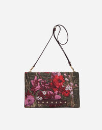 LUREX JACQUARD POUCH WITH PATCH