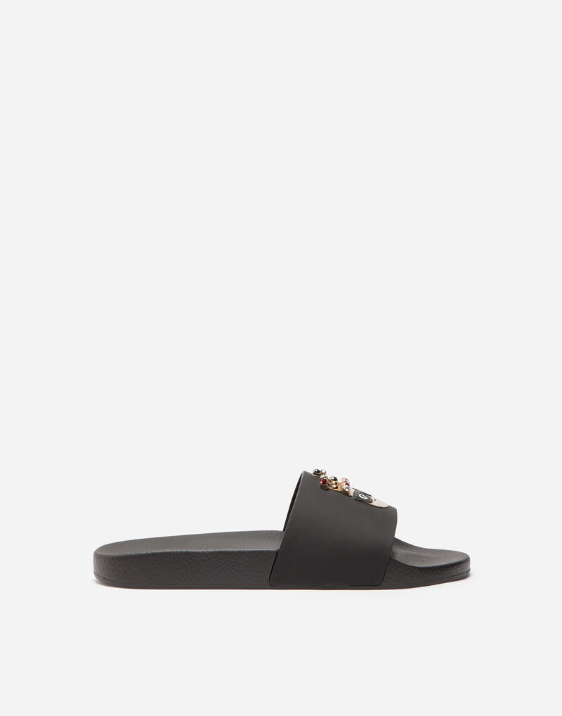 LEATHER SANDALS WITH PATCH