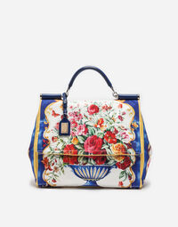 Dolce&Gabbana SICILY SOFT BAG IN PRINTED CANVAS