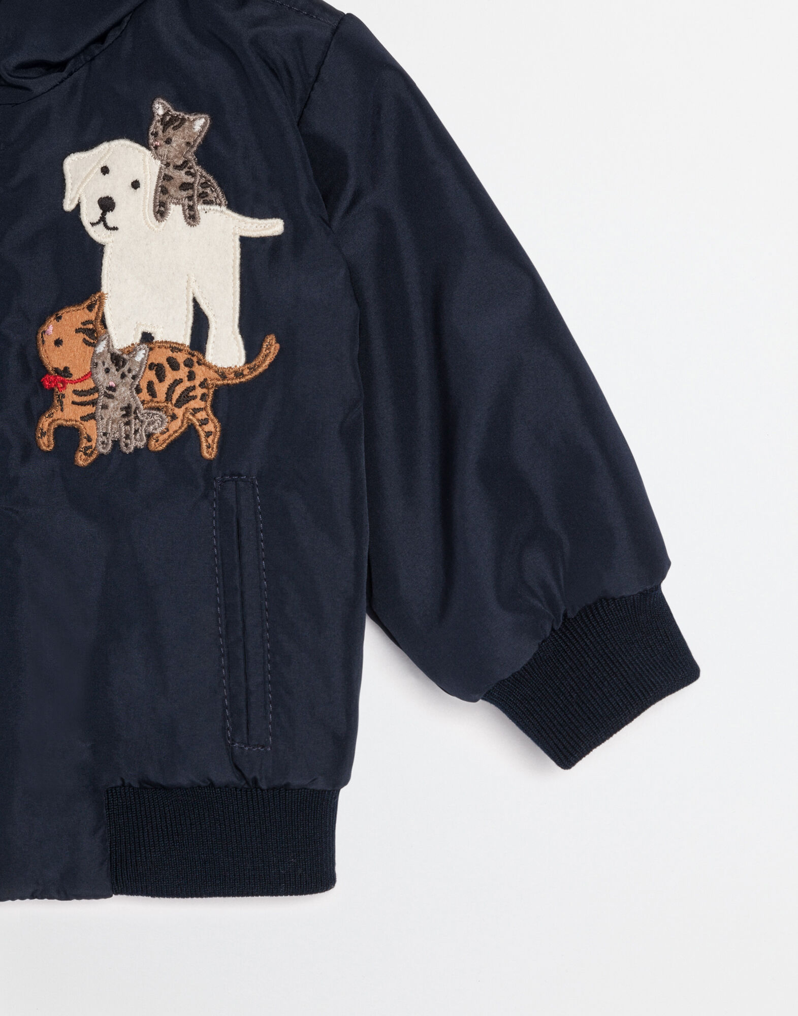 Dolce&Gabbana NYLON BOMBER JACKET WITH PATCH