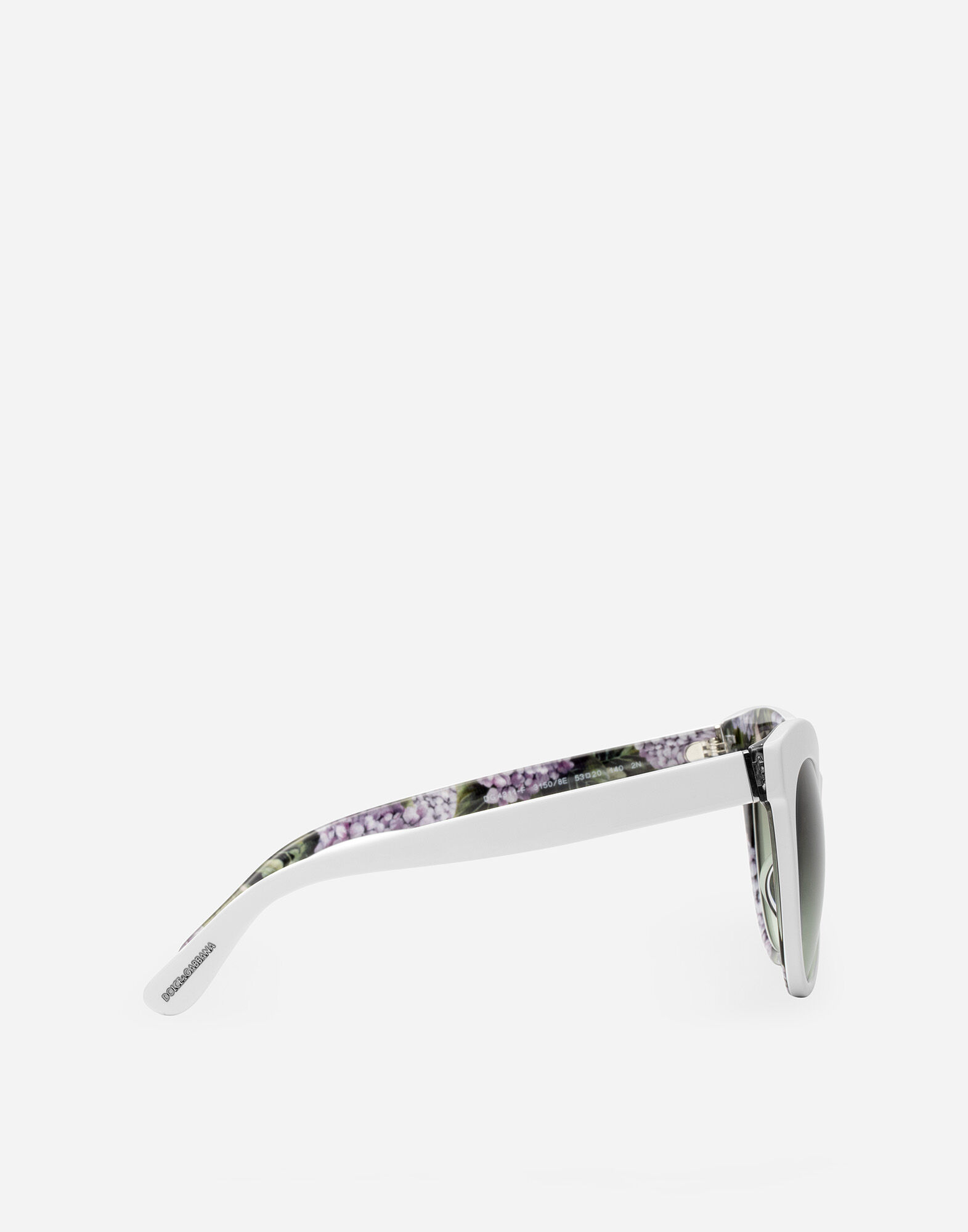 CAT EYE SUNGLASSES WITH HYDRANGEA EMBELLISHMENT
