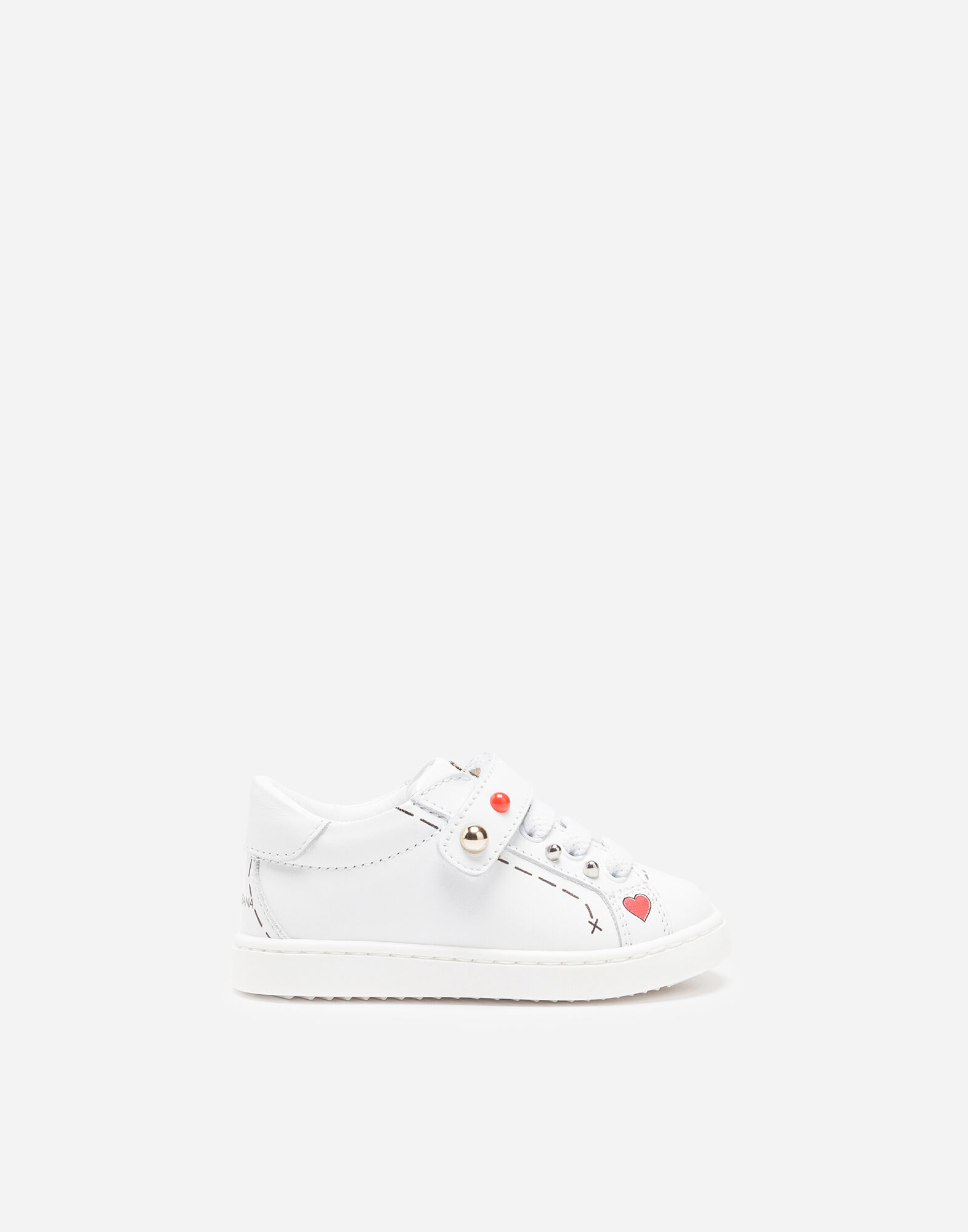 KID'S FIRST STEPS LEATHER SNEAKERS
