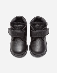 KID'S FIRST STEPS LEATHER ANKLE BOOTS WITH STRAPS