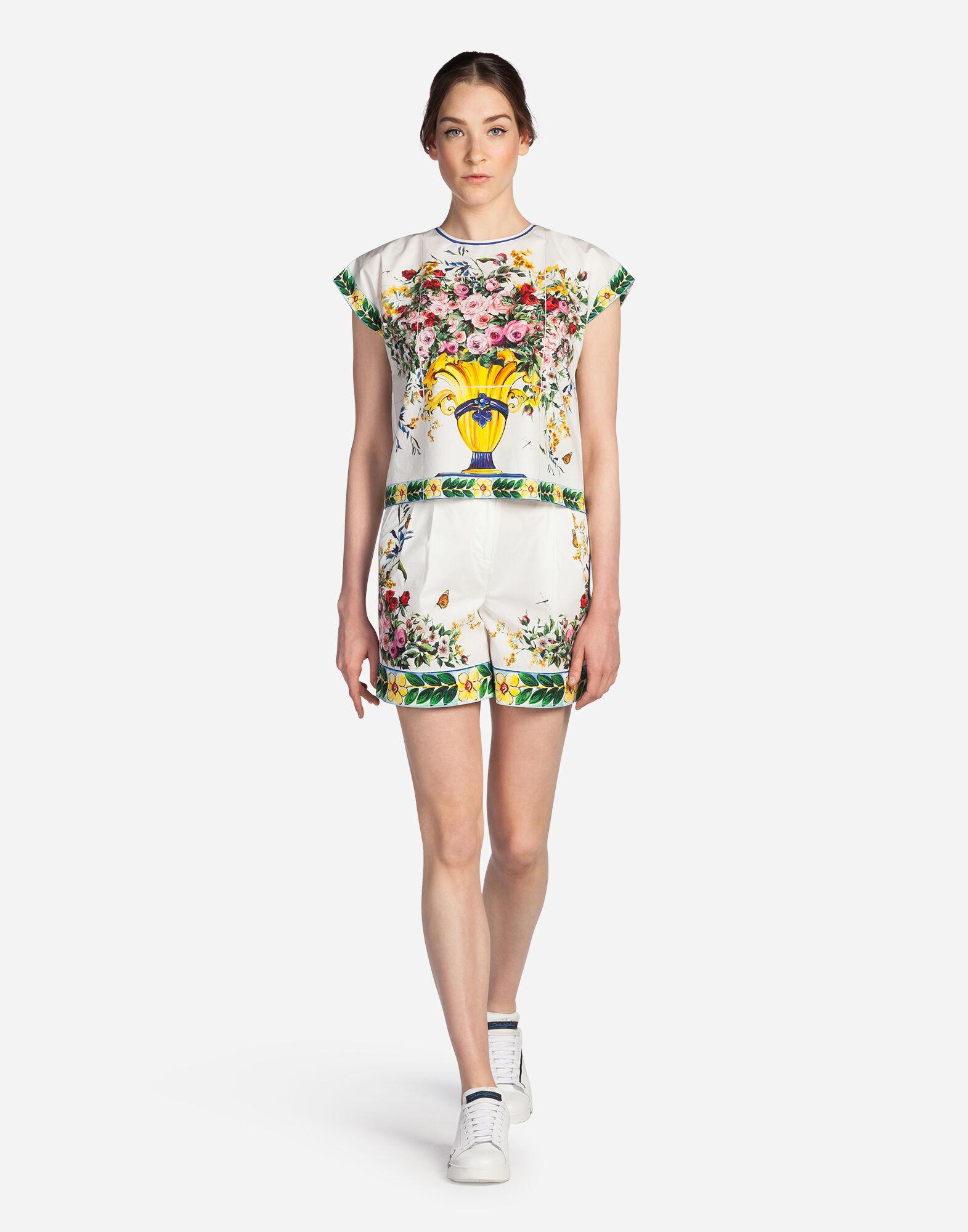 Dolce&Gabbana PRINTED COTTON TOP