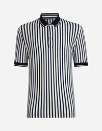 Dolce&Gabbana POLO IN PRINTED COTTON PIQUE