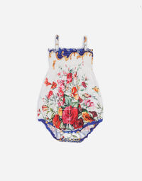 PRINTED COTTON SUNSUIT