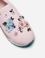 SLIP-ON SNEAKERS WITH APPLIQUÉ DETAILS