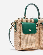 WICKER AND LEATHER DOLCE CESTINO BAG