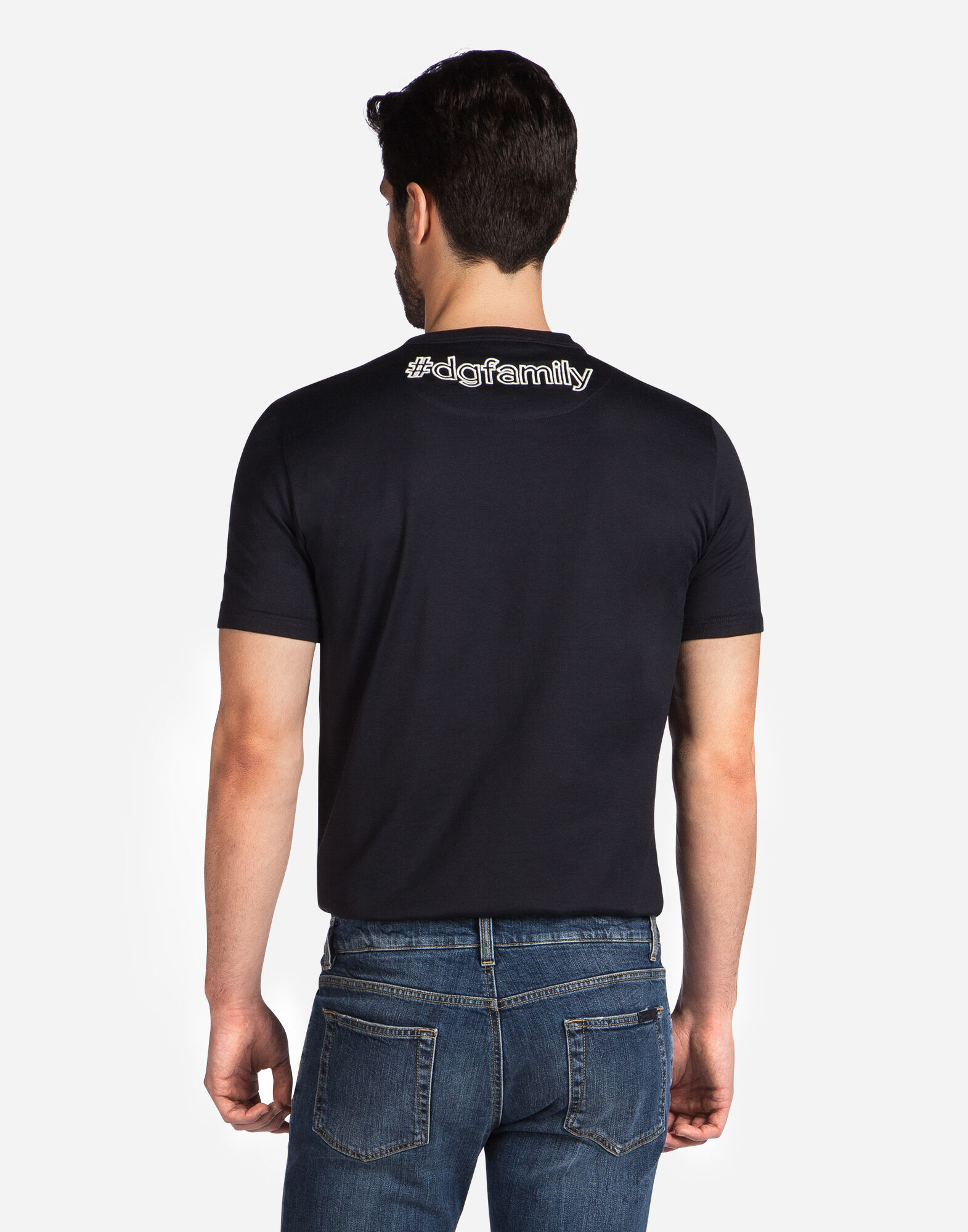 COTTON T-SHIRT WITH DG FAMILY PATCH