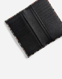 VERTICAL WALLET IN PRINTED DAUPHINE LEATHER