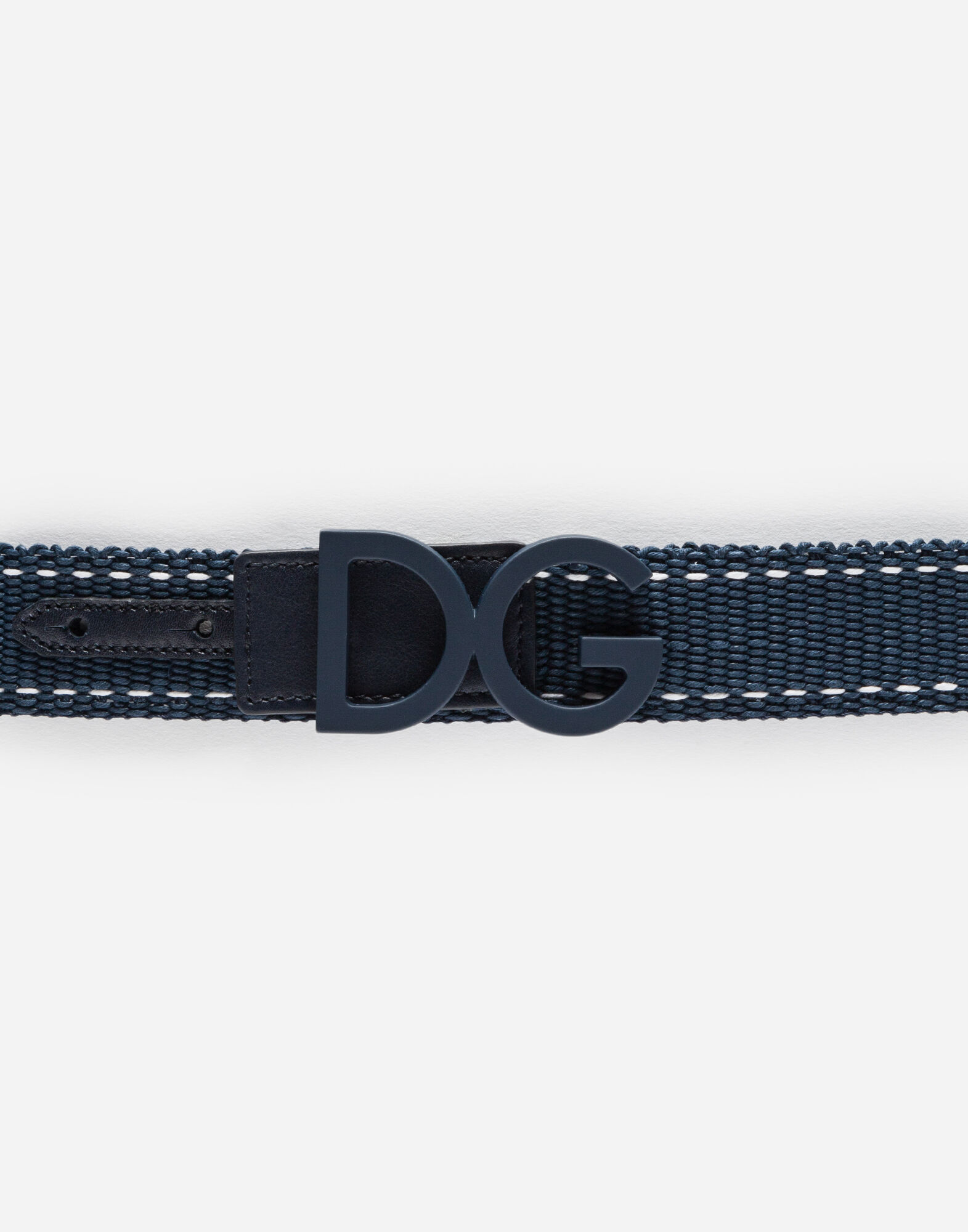 BELT IN CANVAS WITH LOGOED PLATE