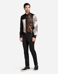 Dolce&Gabbana GOLD FIT SHIRT IN COTTON AND SILK