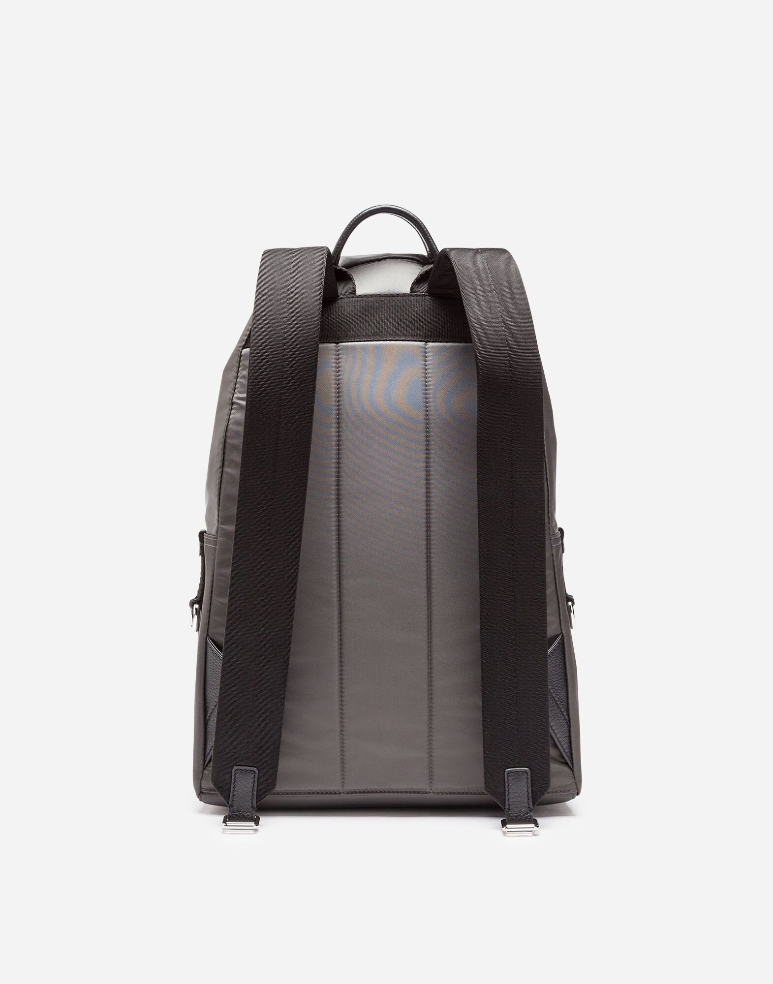 NYLON VULCANO BACKPACK WITH PATCHES OF THE DESIGNERS