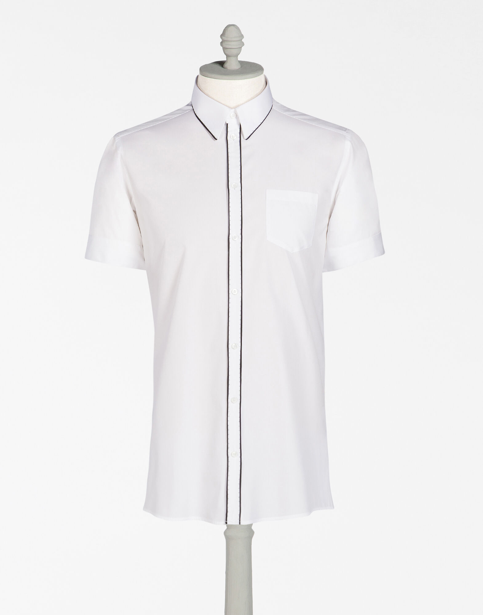SHORT-SLEEVED POPLIN COTTON JERSEY
