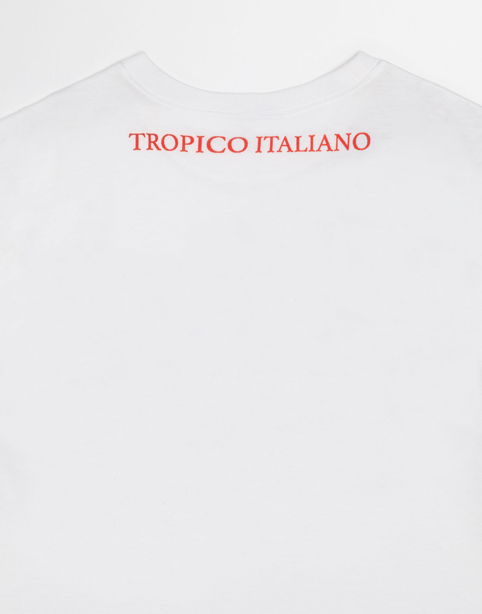 "T-SHIRT WITH ""IO C'ERO"" PRINT IN ENGLISH"
