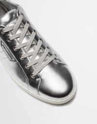 METALLIC LEATHER SNEAKERS LONDON