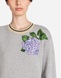 SWEATSHIRT IN COTTON WITH PATCH