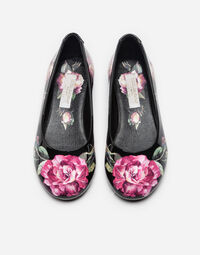 PRINTED PATENT LEATHER BALLET FLATS