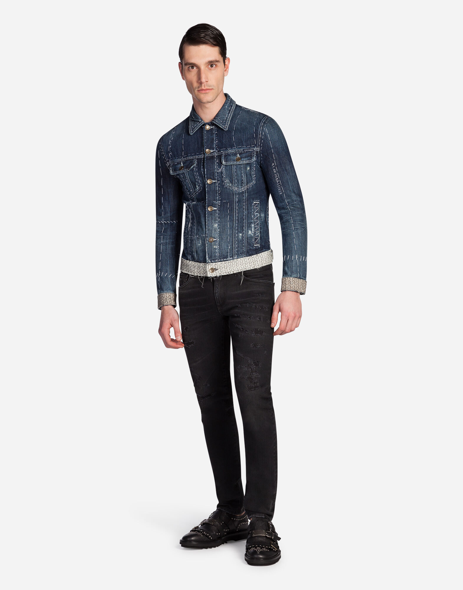 Dolce&Gabbana DENIM JACKET WITH TAILOR STITCHINGS