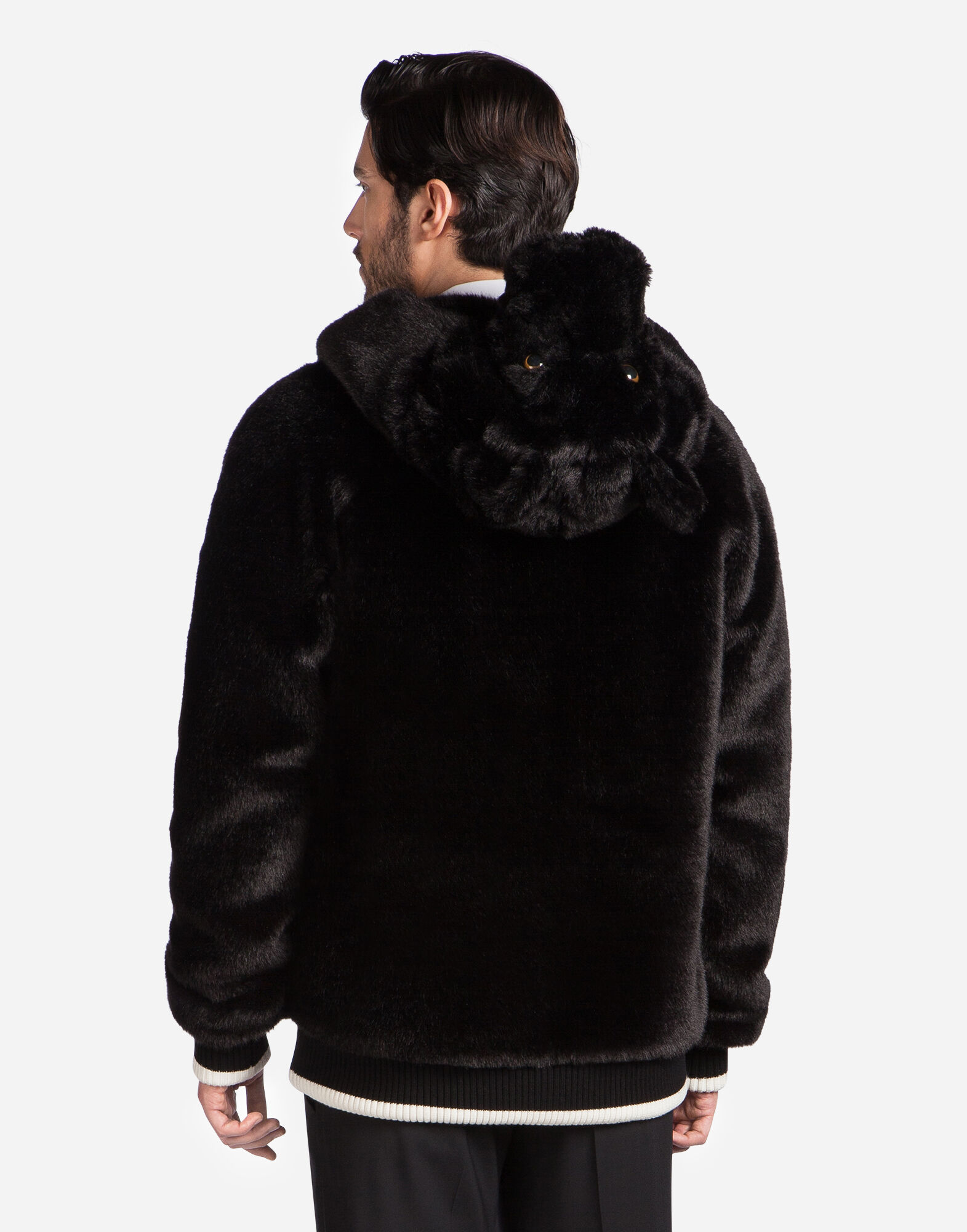 BOMBER JACKET IN ECO FUR