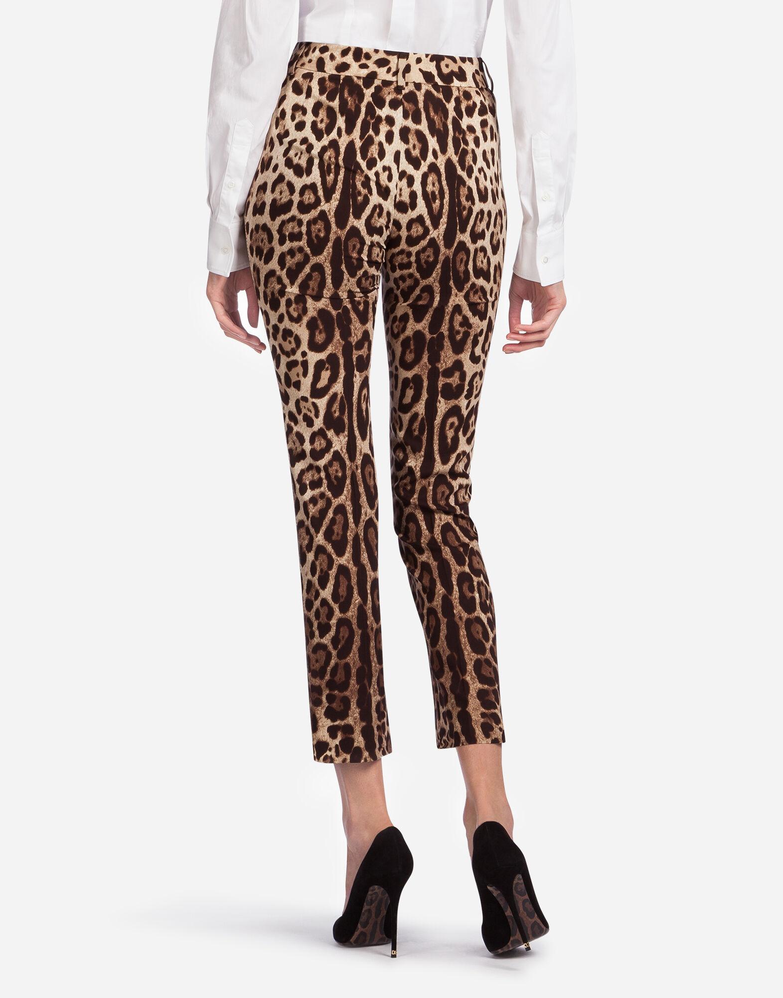 LEOPARD PRINT CADY PANTS