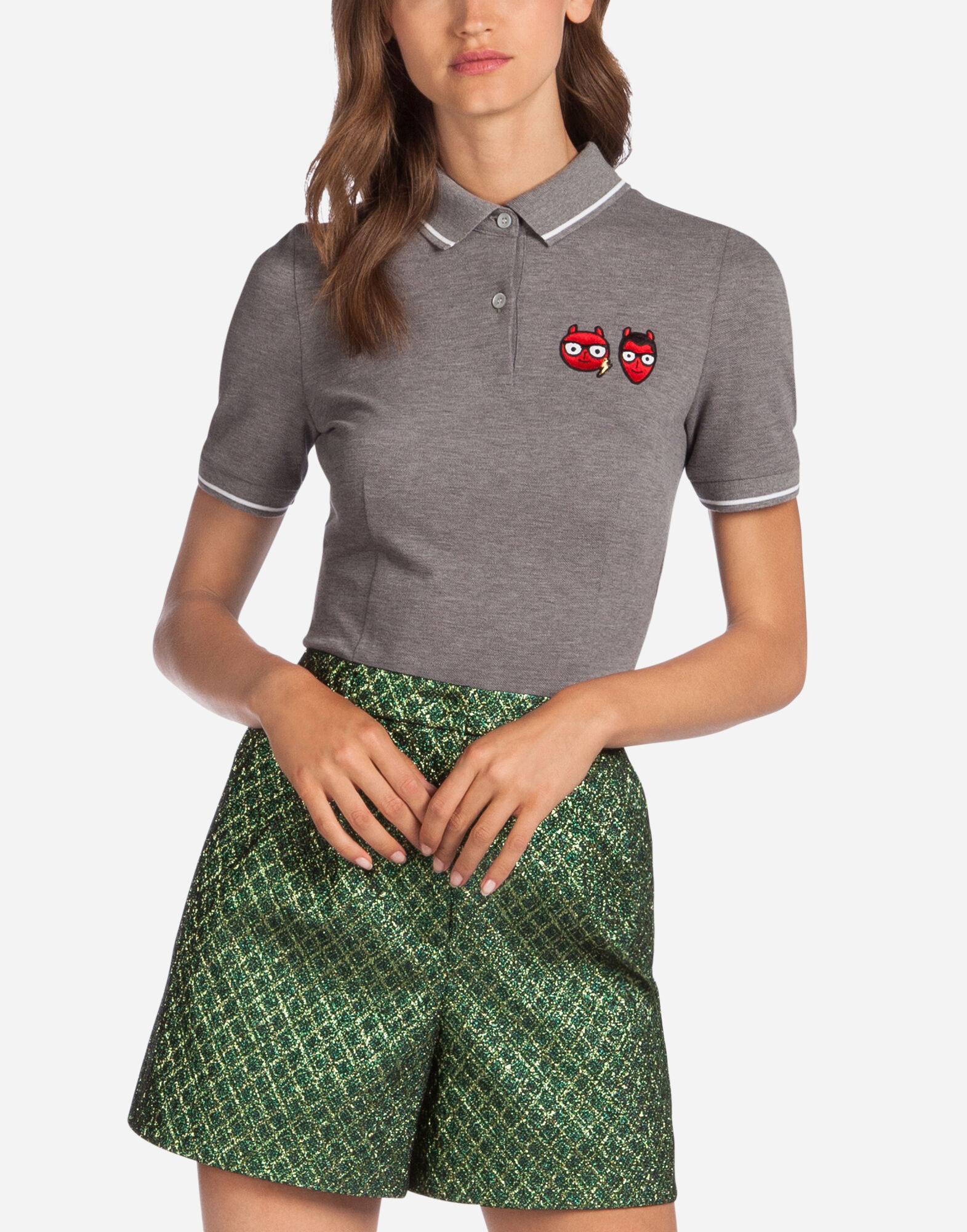 COTTON POLO SHIRT WITH PATCH