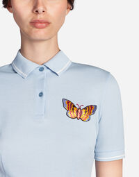 POLO SHIRT IN COTTON PIQUE WITH PATCH