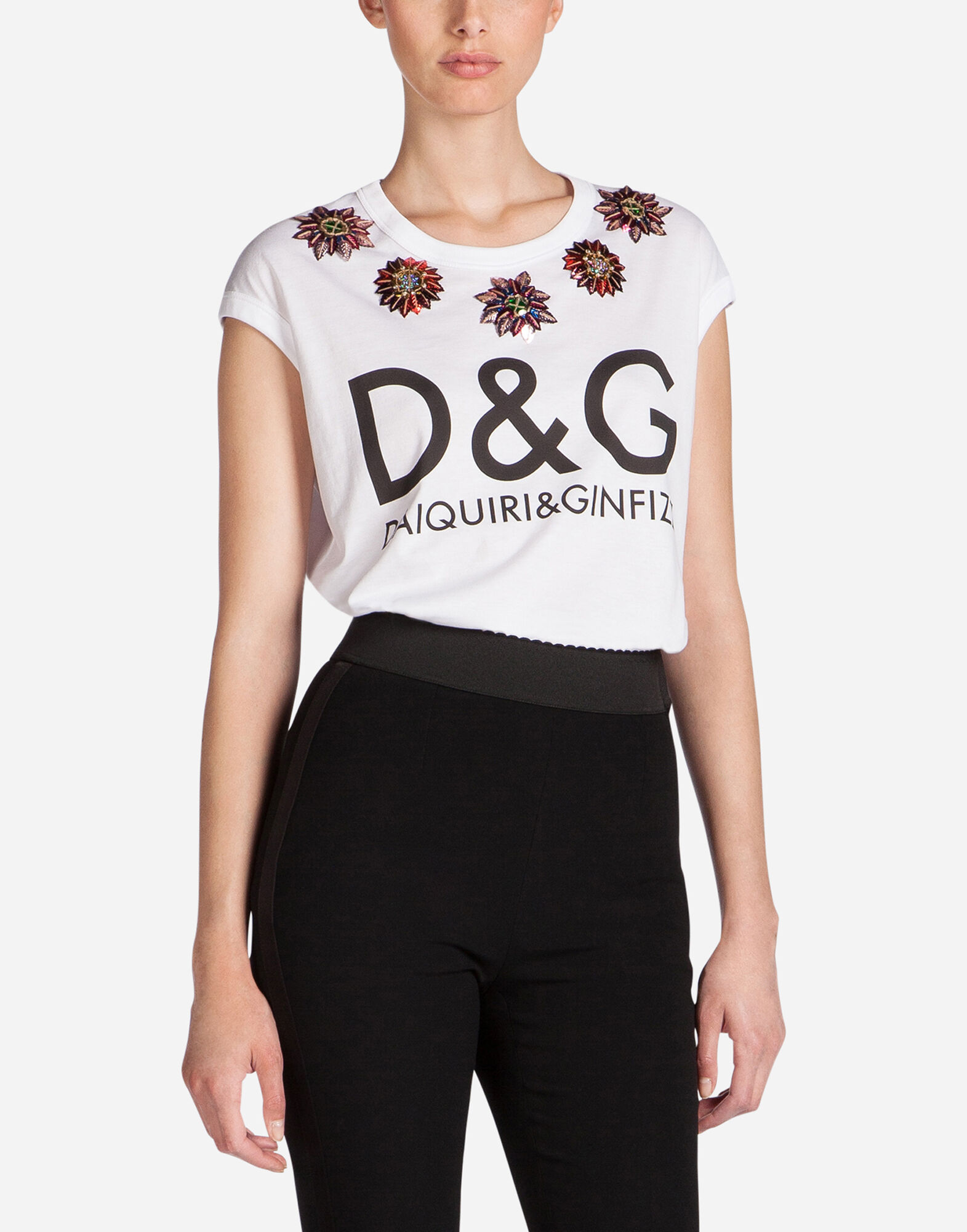 women 39 s t shirts and tops dolce gabbana t shirt with print dolce gabbana. Black Bedroom Furniture Sets. Home Design Ideas