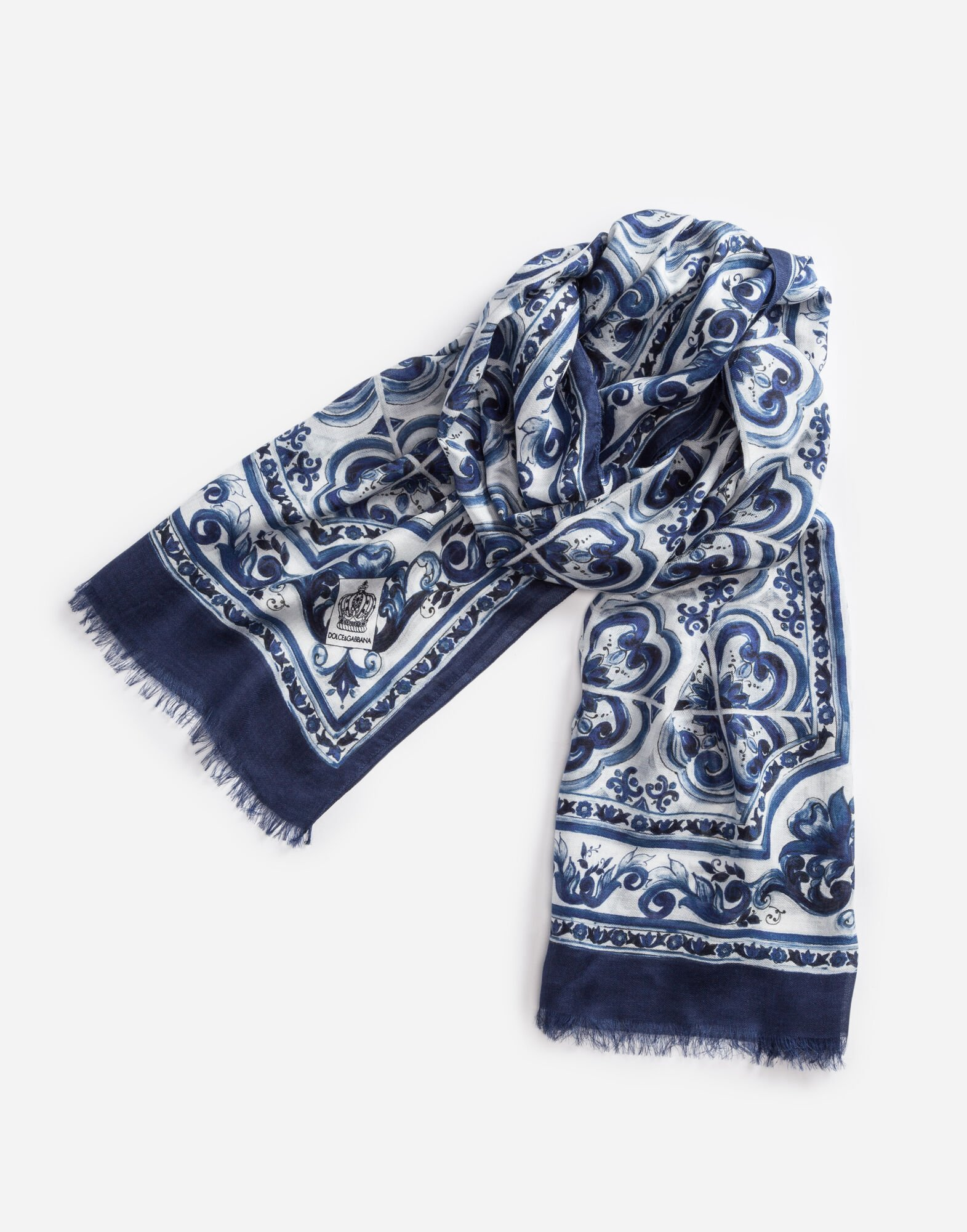 SCARF IN PRINTED CASHMERE