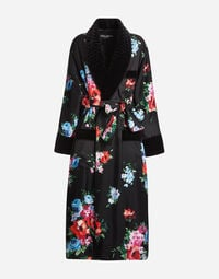 PRINTED SILK ROBE