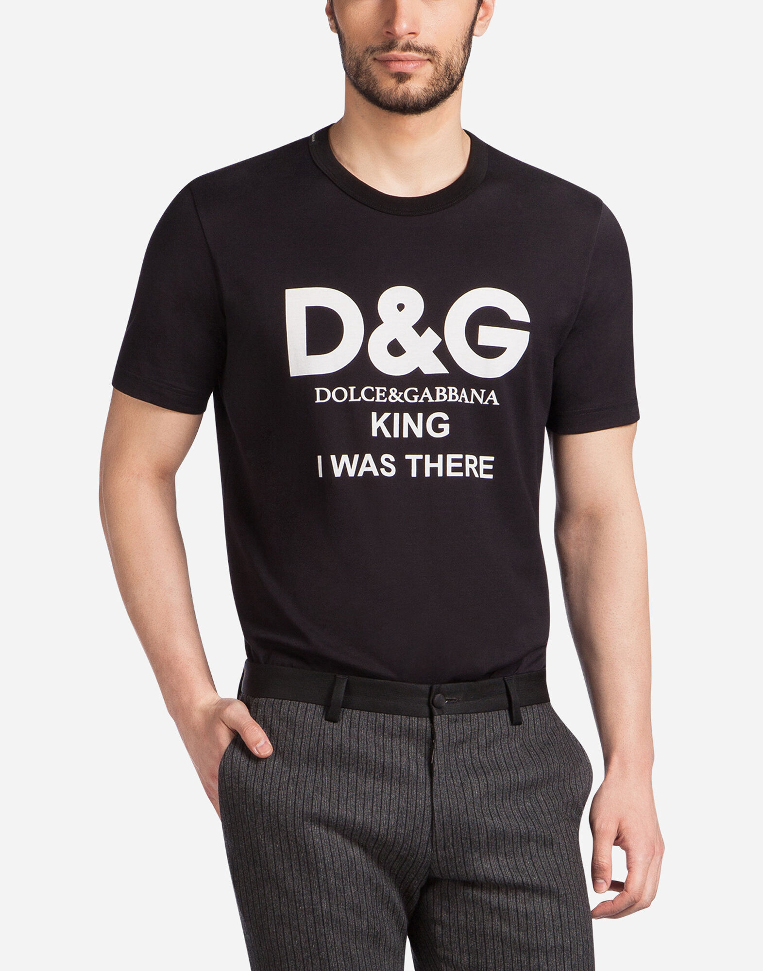 T shirt in printed cotton men dolce gabbana for T shirt printing sites