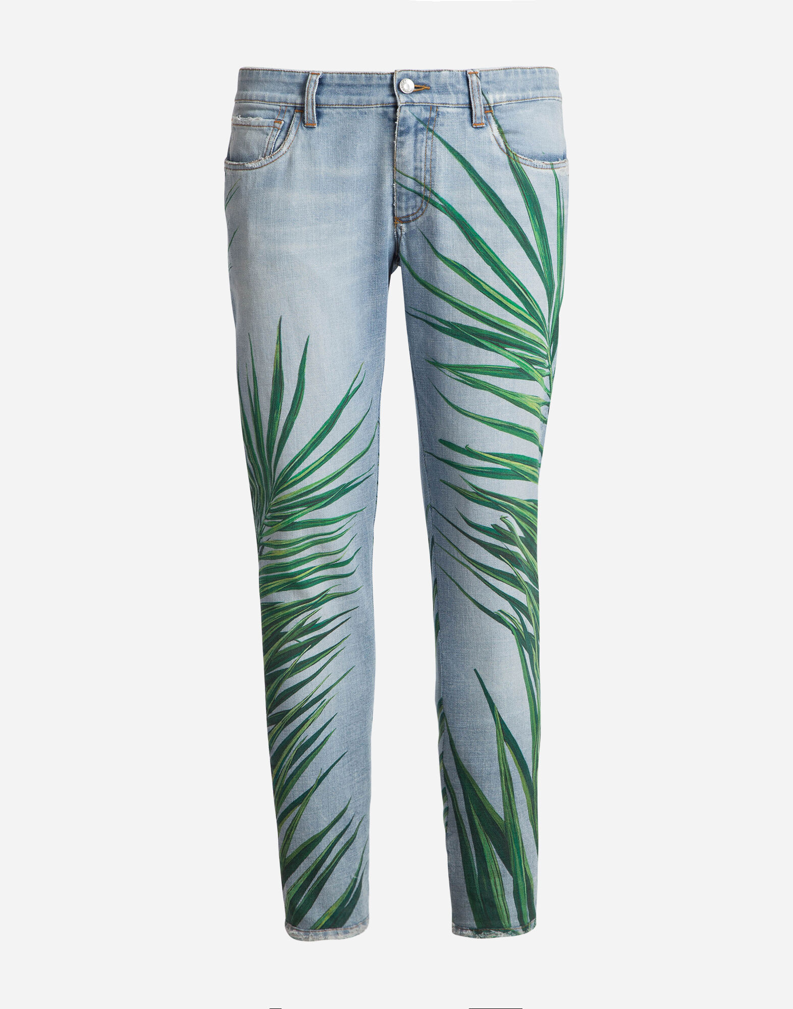 CLASSIC FIT PRINTED JEANS