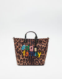 PRINTED BEATRICE CANVAS BAG WITH DG Family PATCH