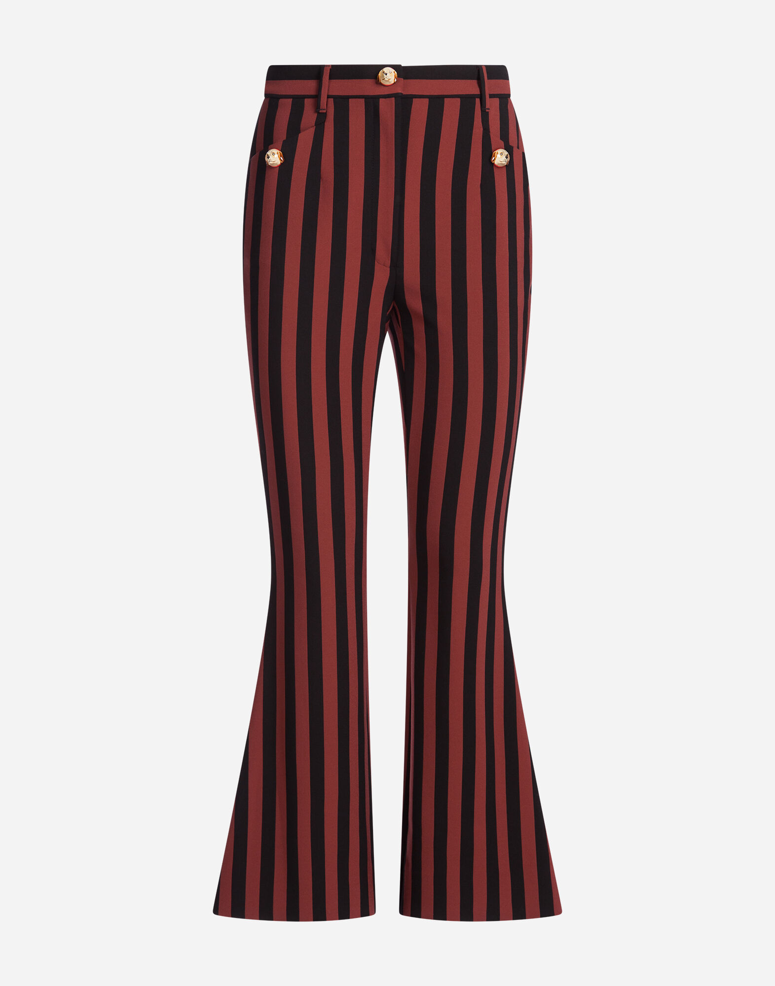 STRIPED PANTS WITH APPLIQUÉS