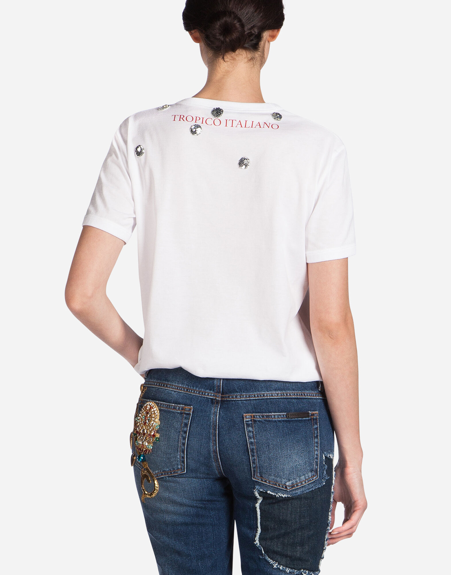 "T-SHIRT WITH PRINT ""IO C'ERO"" IN SPANISH"