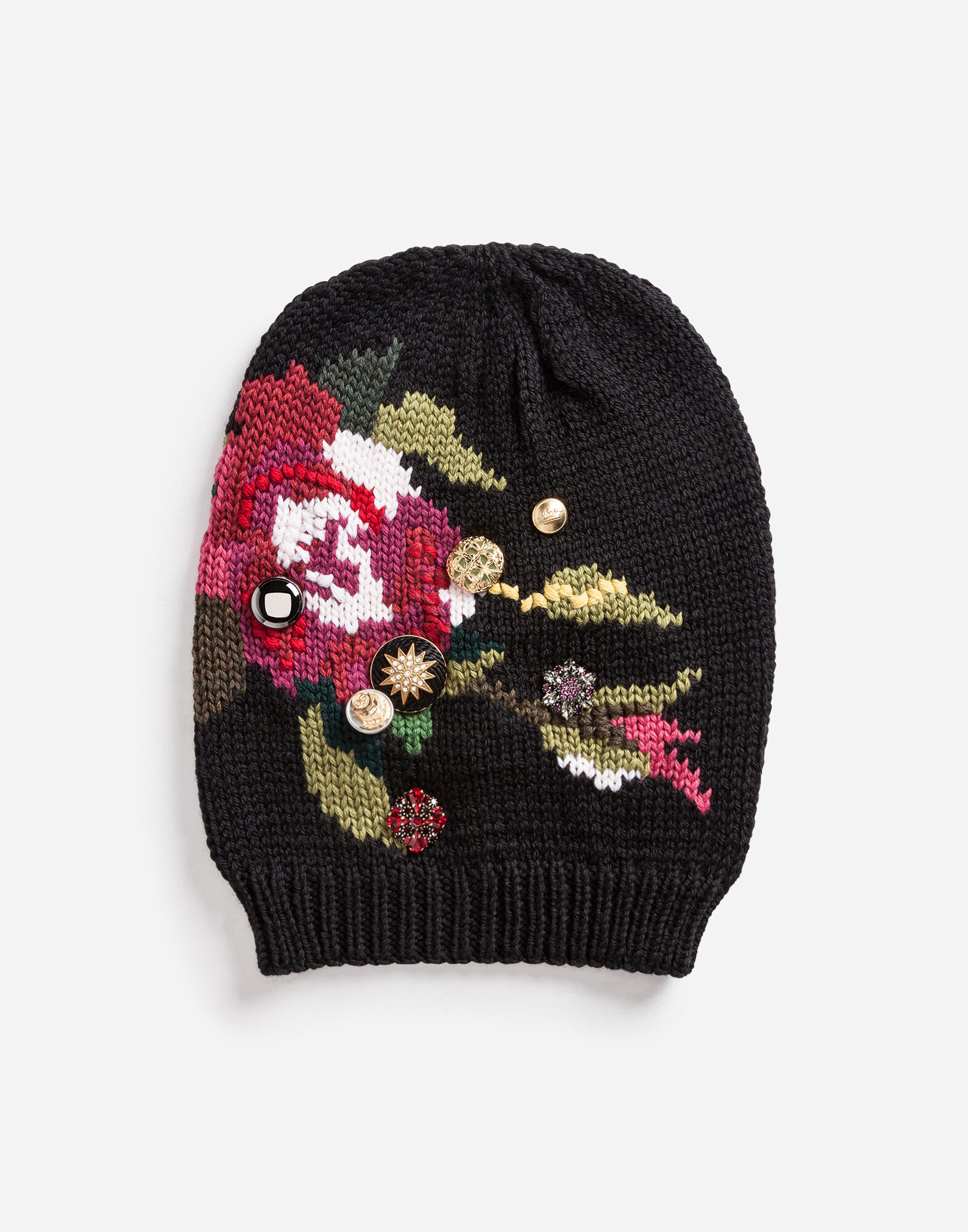 WOOL HAT WITH APPLIQUÉS