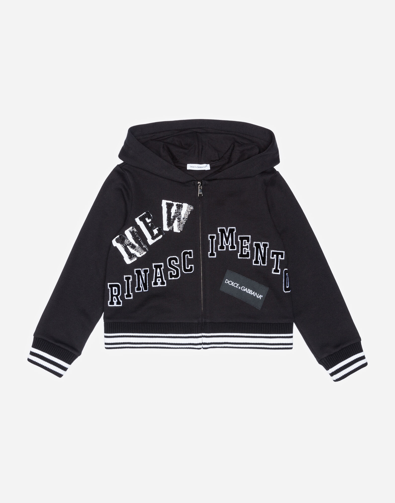 COTTON JERSEY SWEATSHIRT WITH PATCHES