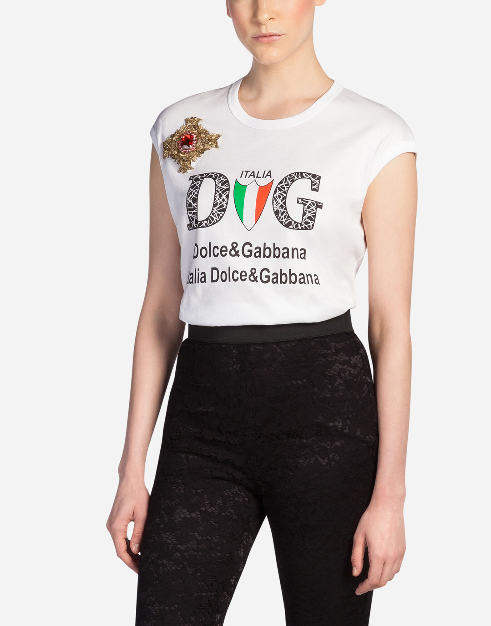 women 39 s t shirts and sweatshirts dolce gabbana t shirt. Black Bedroom Furniture Sets. Home Design Ideas