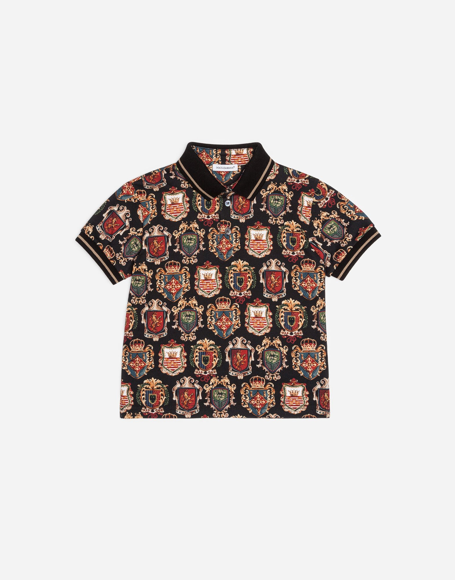 PRINTED COTTON PIQUÉ POLO SHIRT