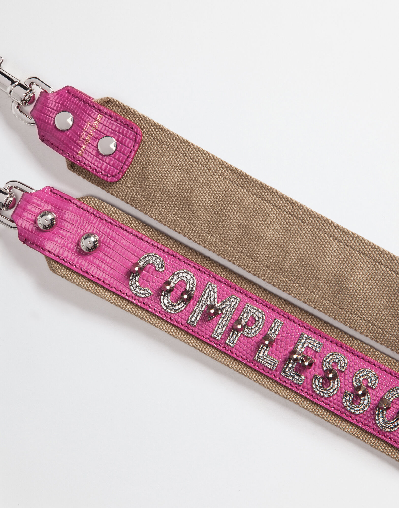 DAUPHINE LEATHER STRAP WITH APPLIQUÉ