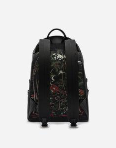 Dolce&Gabbana VULCANO BACKPACK IN PRINTED NYLON