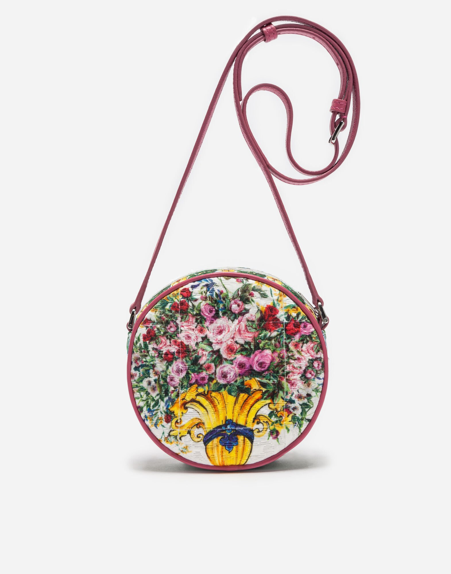 PRINTED BROCADE SHOULDER BAG