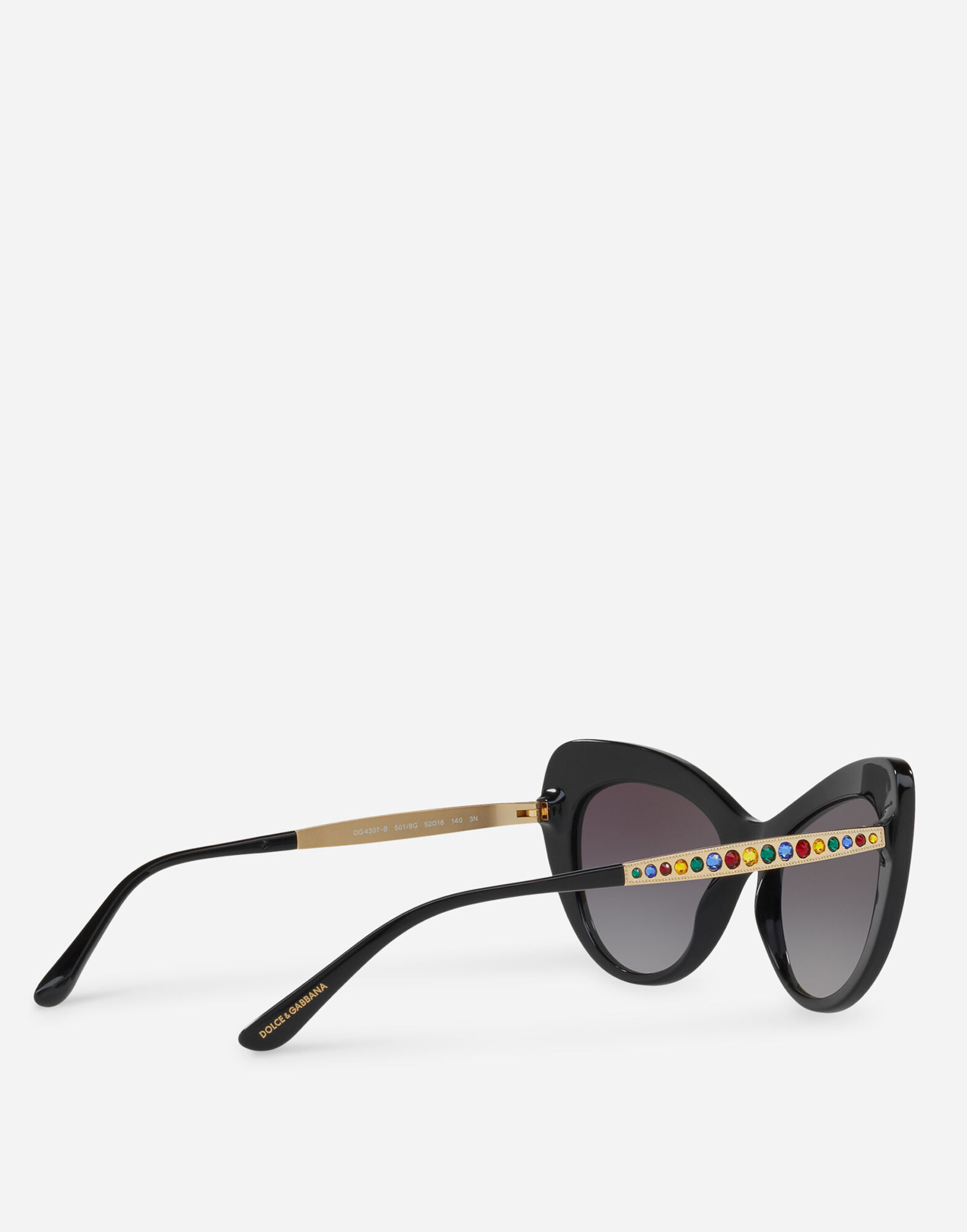 CAT EYE SUNGLASSES WITH CRYSTAL DETAILS