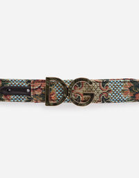 CANVAS BELT WITH LOGO BUCKLE