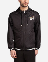 NYLON BOMBER JACKET WITH DESIGNER PATCHES