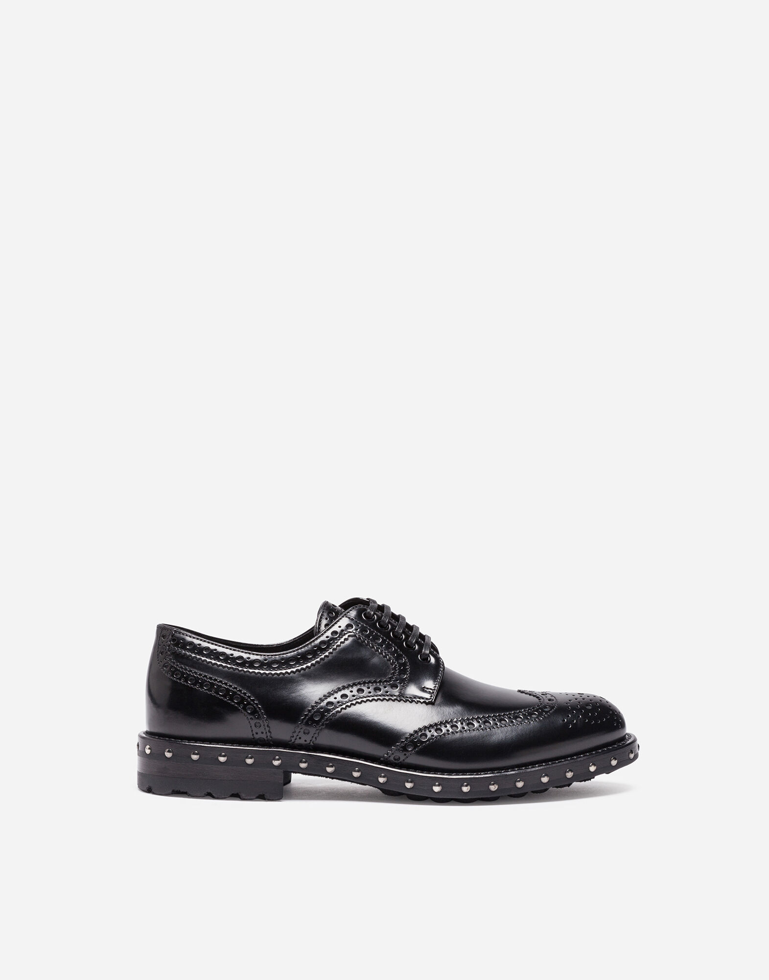 DERBY IN LEATHER WITH STUDS