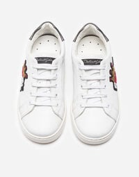 Dolce&Gabbana LEATHER SNEAKERS WITH PATCHES