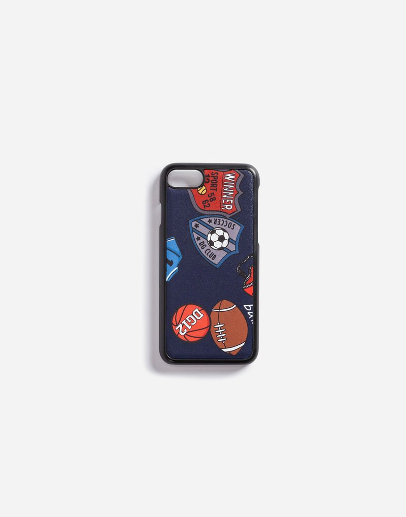 IPHONE 7 COVER IN PRINTED LEATHER
