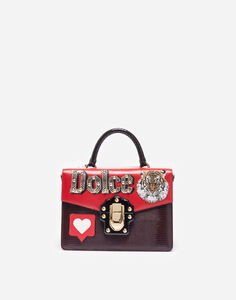 LEATHER LUCIA HANDBAG WITH PATCH